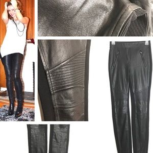 BCBG MAXAZRIA Leather Pants XS
